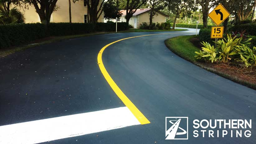 Striping road markings - Southern Striping, LLC