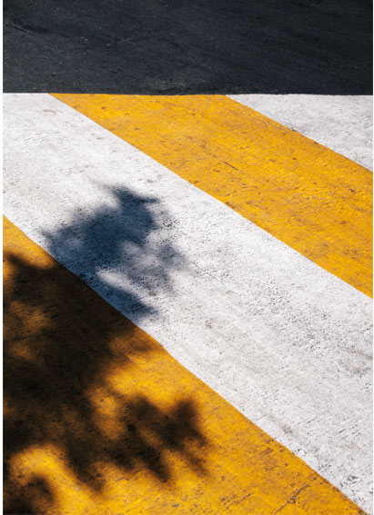 White and yellow road striping - Southern Striping, LLC